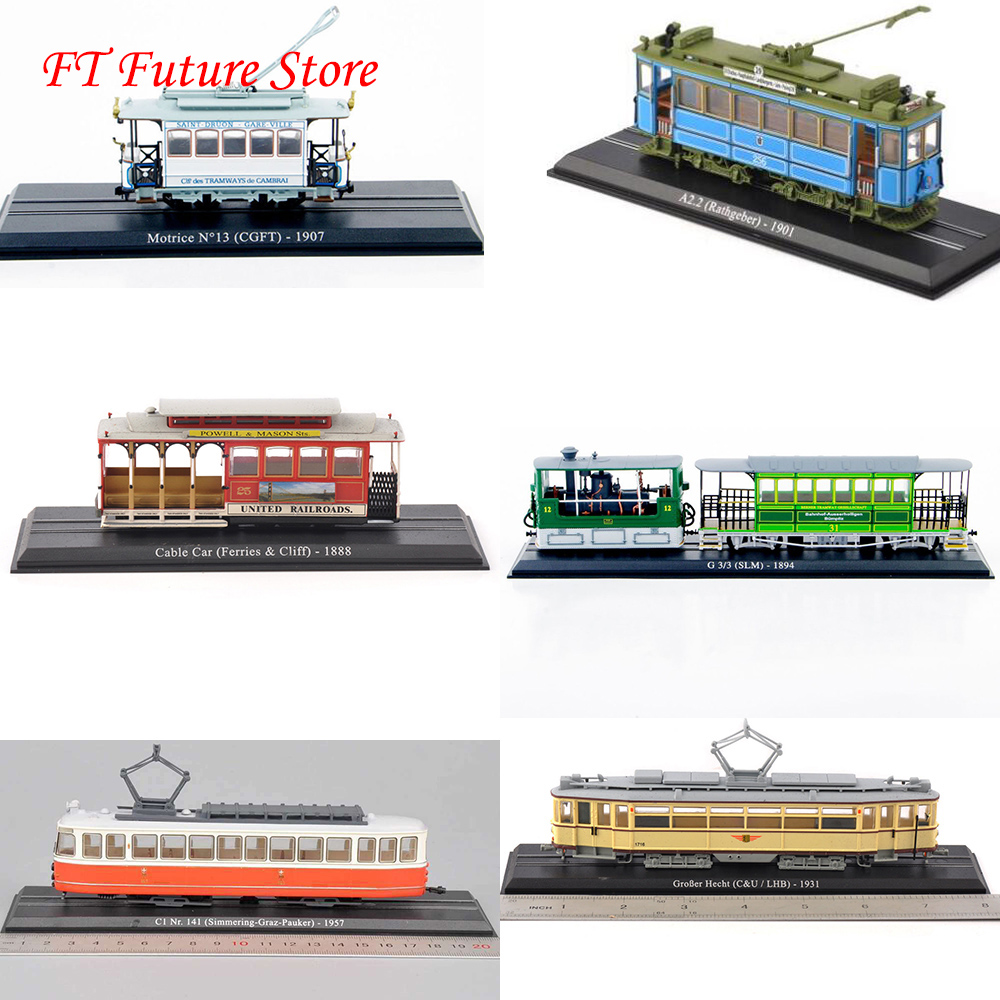 Cheap Children Toys 1:87 Scale Atlas Vehicle Tram Series Train Bus GroBer Hecht Model Toys Model Collection Model for Gifts(China)