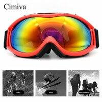 Cimavaユニセックススキーゴーグル二重層レンズuv400アンチフォグスノースノーボードスキーメガネ防風球状表面ゴーグ