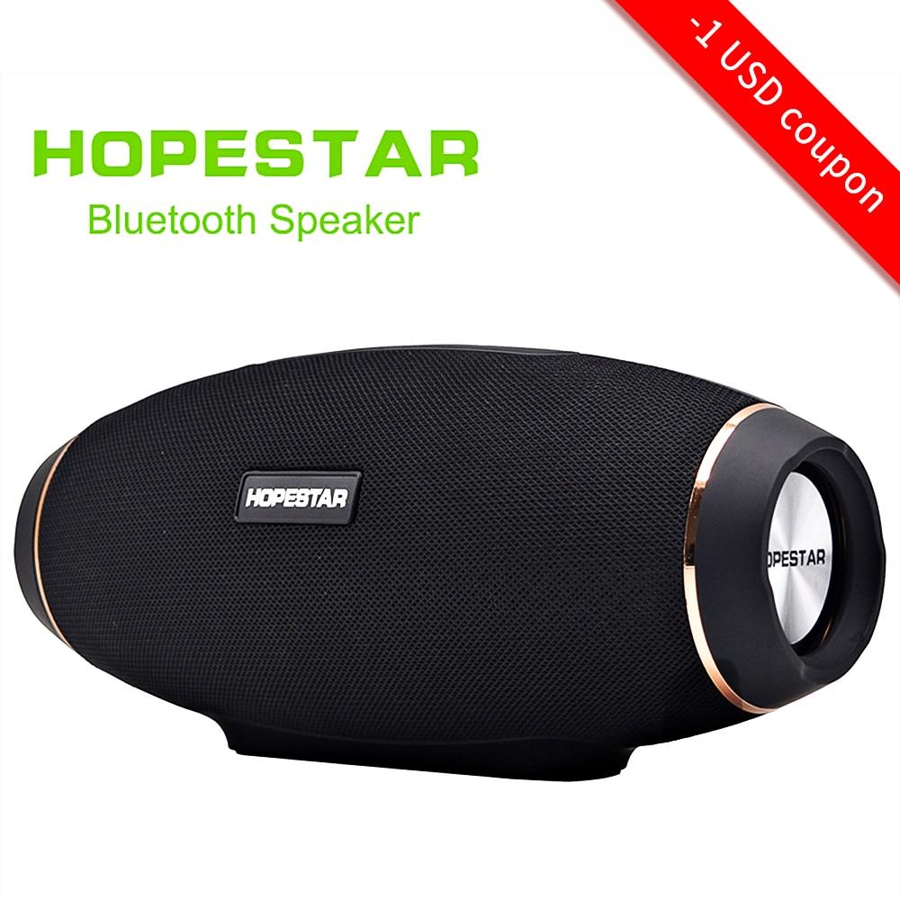 EStgoSZ HOPESTAR H20 Wireless Portable Bluetooth Speaker 30W Waterproof Best Bass Outdoor Effect With Power Bank USB Mobile AUX