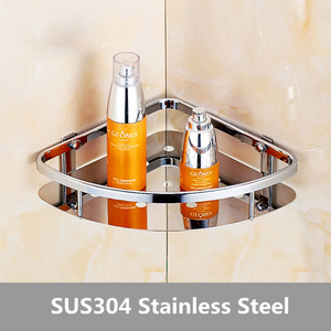 Image 3 - Deluxe 304 Stainless Steel Double Tiers Corner Shower Bright Basket Shelf Tidy Rack Caddy Storage Organizer etagere mural
