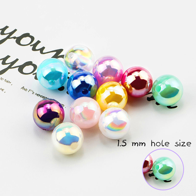 Ab-Color Pearls-Beads Jewelry Making Resin Wholesale for 50g Round Shiny 8/10MM
