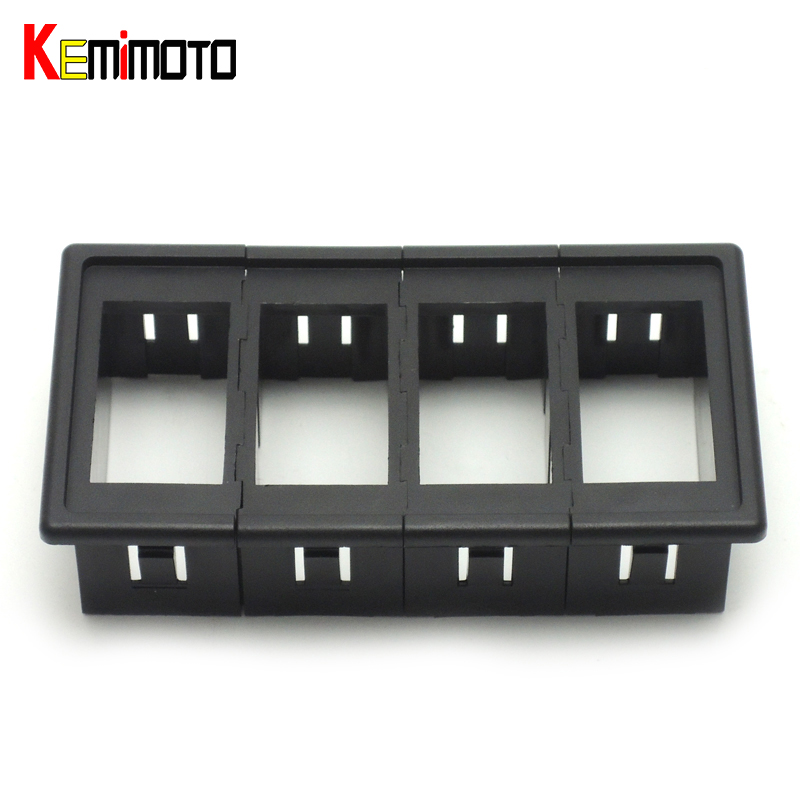 KEMiMOTO Carling Type Black Rocker Switch Clip Panel 4 Position UTV Switch Housing Button Holder for POLARIS RZR XP 900 900S 800