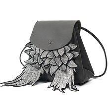 Роскошные известная группа женщин Рюкзаки Мода Вышивка крыло дизайнер шнурок дорожная сумка школьная сумка рюкзак женская сумка
