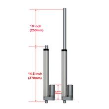 250mm/10 pouces course robuste DC 12 V 1000N pour système de suivi solaire mini actionneur linéaire
