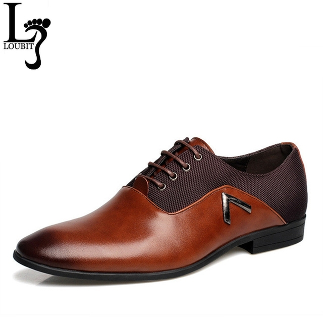 Men Leather Dress Shoes Men s Black Brown Camel Oxford Shoes Formal Office  Business British Lace-up Man Wedding Shoe 928887d4595f