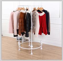 Fashionable circle boutique clothing display shelf wholesale supply