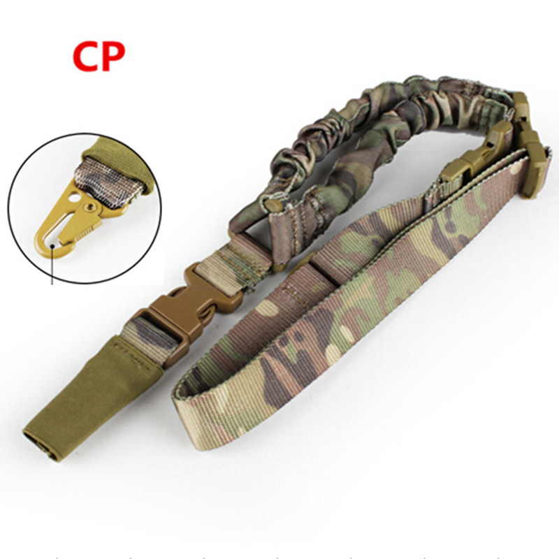 Tactical 1000D Heavy Duty 1 Point Single Bungee Rifle Carbine Shotgun Gun Sling With Side-release buckle Multi Mission belt