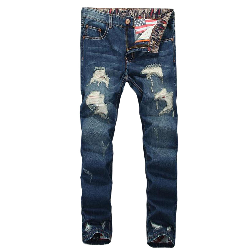 2017 men jeans casual casual hole straight jeans men homme balmai ripped high quality jeans. Black Bedroom Furniture Sets. Home Design Ideas