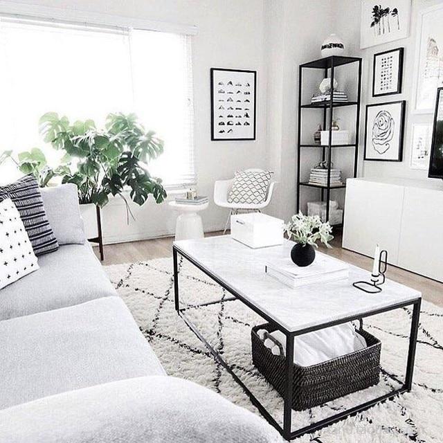 collalily Kilim handmade Carpet geometric Bohemia Indian Rug plaid striped Modern black white design Nordic style 5