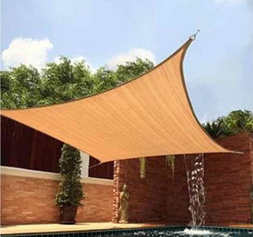4x6m HDPE Square Shade Sail Encrypt Thick Outdoor Sun Shade Net Anti Uv  Awning Canopy Suitable for Car Balcony Garden Courtyard