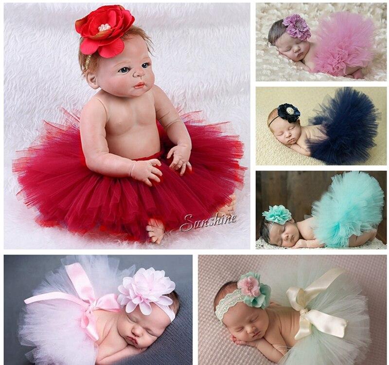 Newborn Tutu Skirt Headband SetInfant Pettiskirt Photography Props For BirthdayPrincess Ruffle Baby FaldaA0032 In Skirts From Mother Kids On