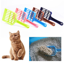 Random Color 5 Pcs Plastic Pet Dog Puppy Cat Litter Scoop Sand Waste Scooper Cleaning Tool Pets Supplies HG99