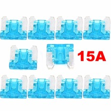 10Pcs Micro Short Low profile Mini Blade 15A amp APS/ATT Fuse for Honda Toyota Lexus Assortment Auto Car Motorcycle SUV Fuses(China)