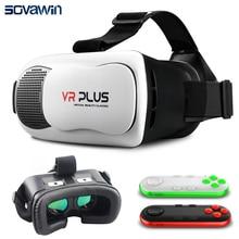 2016 VRกล่องPro 3.0 VRบวกIIIหนังรุ่นที่มีเคลือบจริงแก้วเลนส์แว่นตา3Dชุดหูฟังความจริงเสมือนแว่นตากระดาษแข็ง