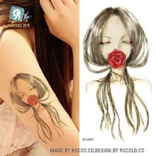 2pcs/lots Green Tattoo Stickers Personalized Fashion Sketch Girls Tattoo Tattoo Stickers Can Be Customized RC-030