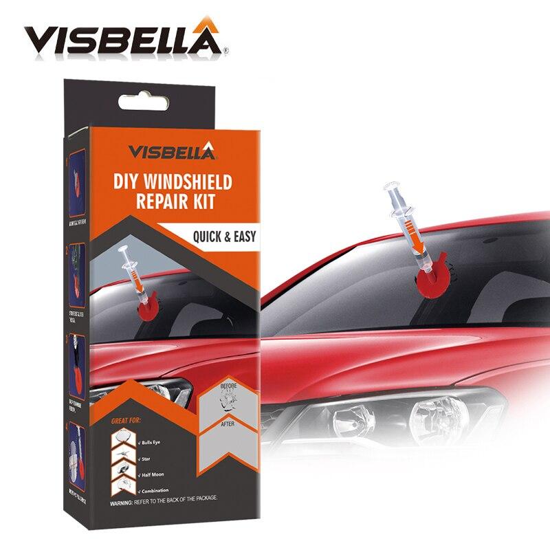 Visbella DIY kit de Reparo do Pára Brisas Conjuntos de Ferramentas de Mão de Vidro para o Reparo Do Carro Arranhões Chip Rachaduras Restaurar A Janela de Polimento