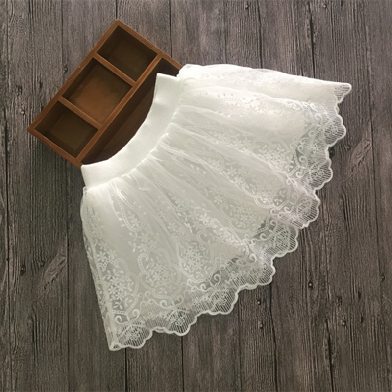 DFXD Kids Skirt 2017 New Fashion Summer Cute Baby Girl Princess White Lace Tutu Korean Children Pettiskirt For 2-12Years