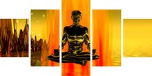 glow in the dark New product universe Star Arts home decor buddha painting calligraphy paintings for living room wall