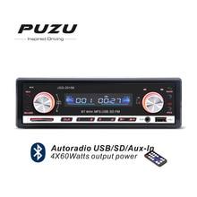 Красный цвет 1DIN 12 В Bluetooth автомобиля Радио mp3 fm приемник USB SD магнитофон с пульта дистанционного управления USB SD AUX в порт