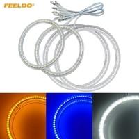 FEELDO 2X110mm 2X90mm Car LED Halo Rings Angel Eyes DRL Head Lamp For Hyundai Elantra(04 06) #HQ3217