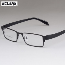 BCLEAR Men Titanium Alloy Eyeglasses Frames Flexible Temples Legs IP Electroplating Material Full Frame Spectacle Eyewear