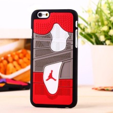 3D Jordan sneakers Sole PVC Rubber Cover For iPhone 6 4.7 Inch Jump man Phone bag Case Free Shipping