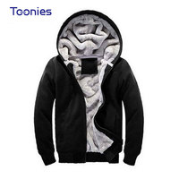 New Brand Mens Hoodie Sweater Fashionable Male Plus Wool Thick Coat Blank Wholesale Tide Cotton Thick