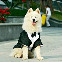 Одежда для больших собак, большой свадебный костюм для собак, смокинг, одежда для бульдогов, нарядный вечерний приталенный жакет пиджак, костюм, одежда