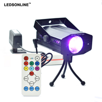 IR Remote Control Mini Club Disco Light DJ Projector Stage Laser Light Patry Blue Green Red