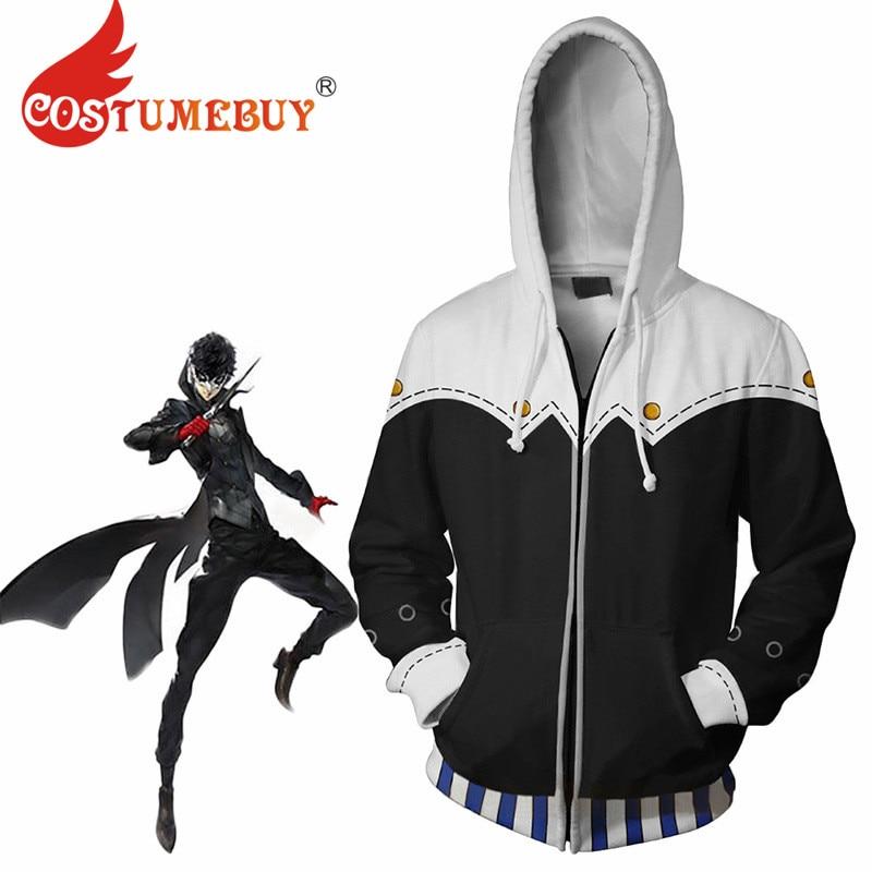 Persona5 P5 Persona Kaitou Logo Black Sweater Hoodie Jacket