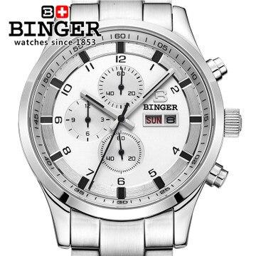 fashion 2016 brand Binger top quality luxury Wholesale Retail CHRONOGRAPH Watch Original box Certificate Wrist Watches
