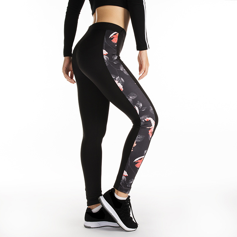 Floral Print Sport Leggings High Waist Compression Pants Gym Clothes Sexy Running Yoga Pants Women Sports Leggings Fitness