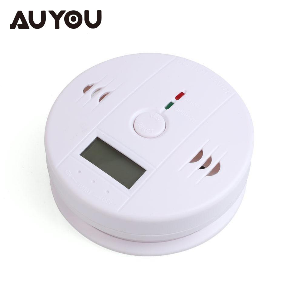 AUYOU Home Security Digital 85dB LCD Digital Backlight CO Gas Carbon Monoxide Detectors Poisoning Sensor Alarm Warning Detector