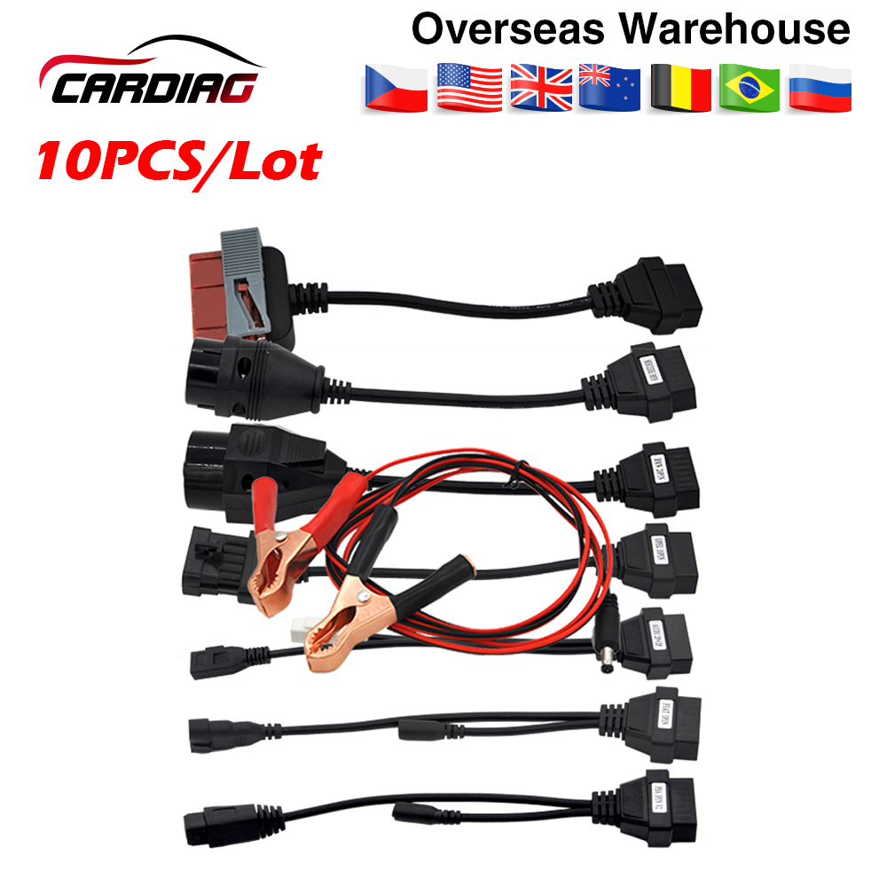 10PCS/Lot car cables 8 pcs for tcs cdp pro ds150 ds150e cable Multidiag pro OBD OBDII OBD2 Scanner Scan DHL free storage cable