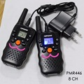 2PCS VT8 PMR talkie walkies portable mobile radios transceiver 8 channel 446 long distance 1w RX TX power with LED flashlight