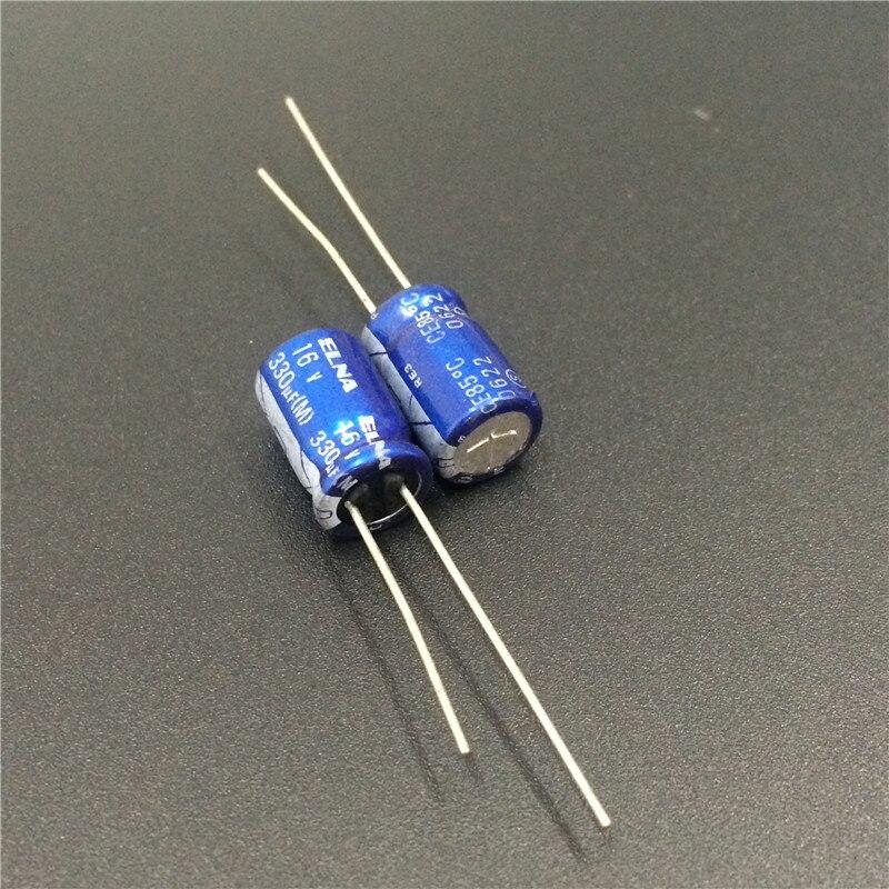 100pcs 10V100uF 10V 6.3x11mm ELNA R2B RBP2 Bipolar Capacitor For Audio