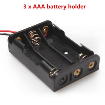 Wysokiej jakości 3 baterie AAA opakowanie na baterie uchwyt na z przewodami do DIY 4 5 V AAA baterie darmowa wysyłka tanie i dobre opinie Bateria Akcesoria 3 AAA battery case