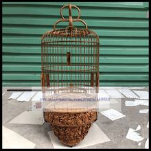 22 26cm bamboo prince bird cage embroidered eye acacia yellow bean