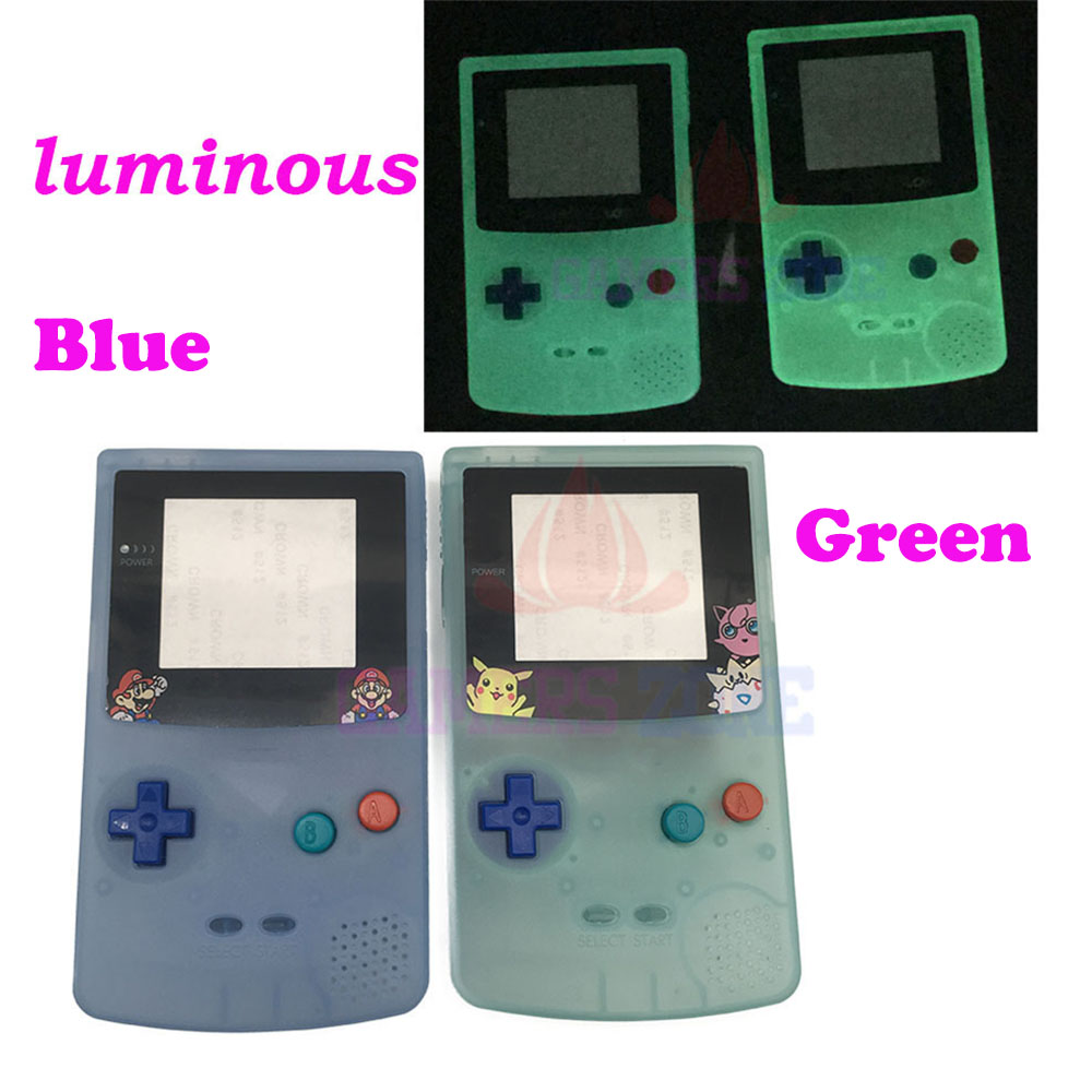 For Limited Edition Plastic Luminous Full Housing Shell Fluorescent Case for GBC Gameboy Color Glow Case Cover