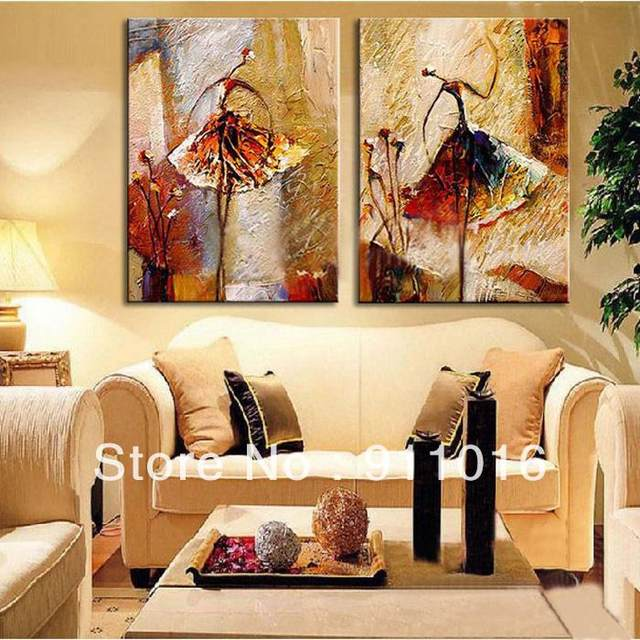 2 Panel Wall Art Pictures Oil Painting On Canvas Home Decoration Ballet  Dancer Artwork The Picture Decor Painting U0026 Calligraphy