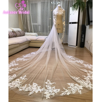 2019 Luxurious Styles No Combo Vintage Bridal Wedding Accessories 3 x 3 Meters Bridal Veils Long Appliques Lace Wedding Veils