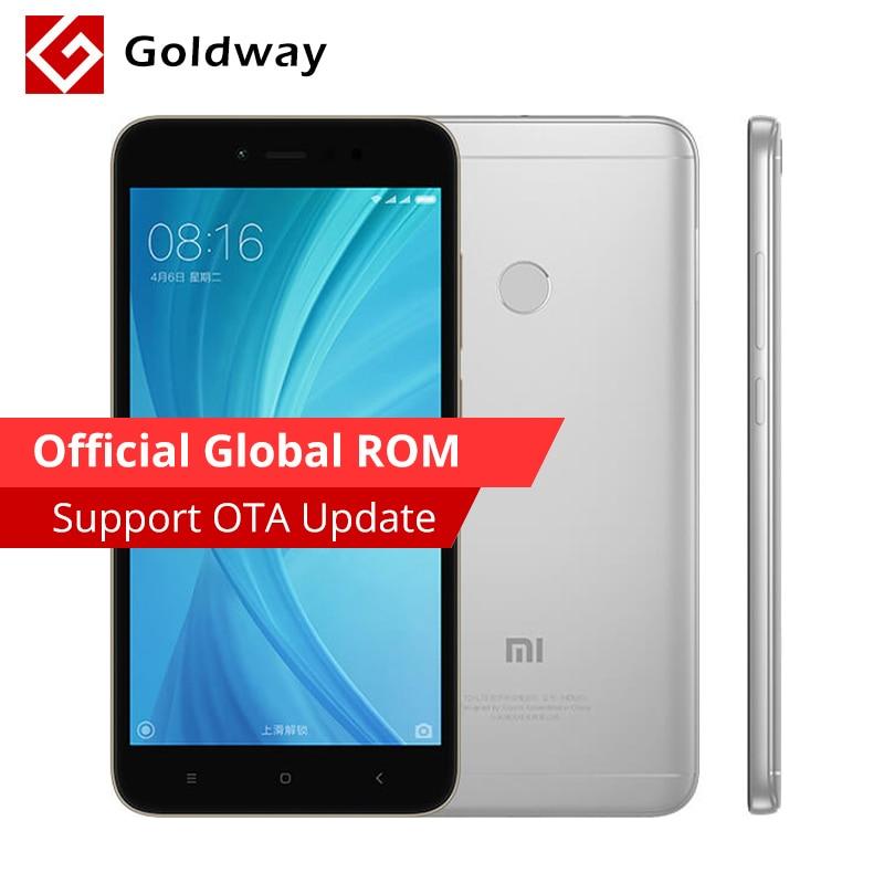 "Original Xiaomi Redmi Note 5A 3GB RAM 32GB ROM Mobile Phone Snapdragon 435 Octa Core 5.5"" 16.0MP Camera Fingerprint MIUI"