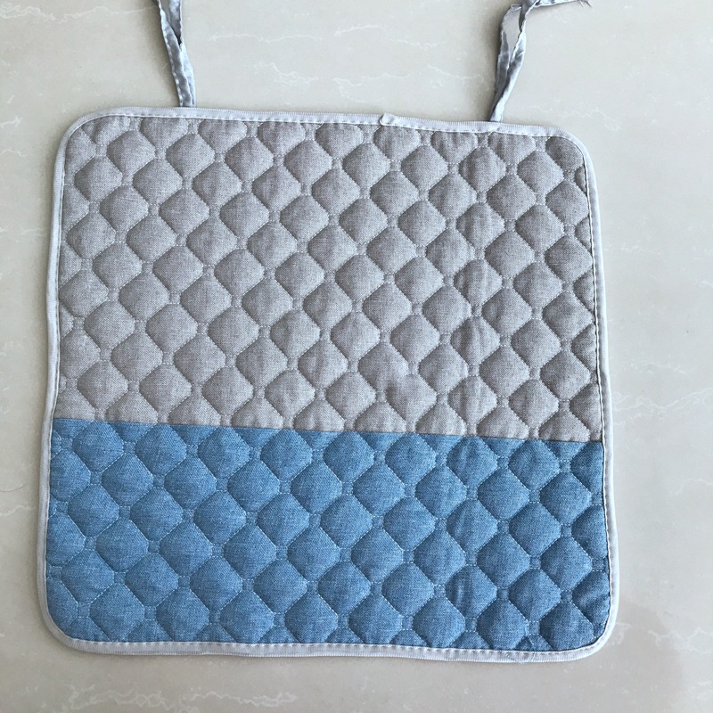 Free Shipping 40 40cm Chair Pad Cushion Pearl Cotton: 3D Lattice Pattern Flannel Square Seat Cushions Home Decor