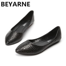 BEYARNE New Design Lady soft Flats Shoes for drive pointed toe pregnant woman  shoes Women wedding red Shoes Snake Skin 33-43 42 5592fa4e788b