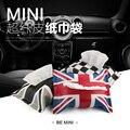 Xadrez vermelho union jack PU saco de tecido de couro para mini cooper R55 R56 F56 R61 etc