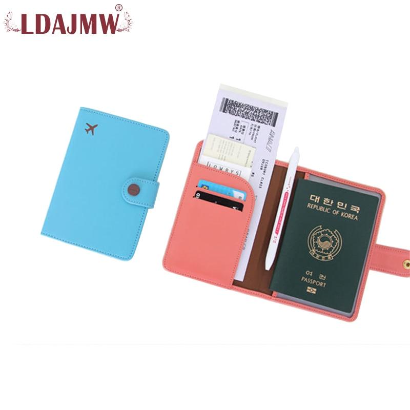 LDAJMW New Arrival Leather Passport Cover Travel Accessories Women Passport Holder Card Holder Ticket Clip hot overseas travel accessories passport cover luggage accessories passport card secret garden