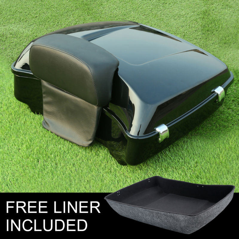 Chopped Tour Pak Trunk Backrest Pad For Harley Touring Street Glide Road King FLHX 14-18