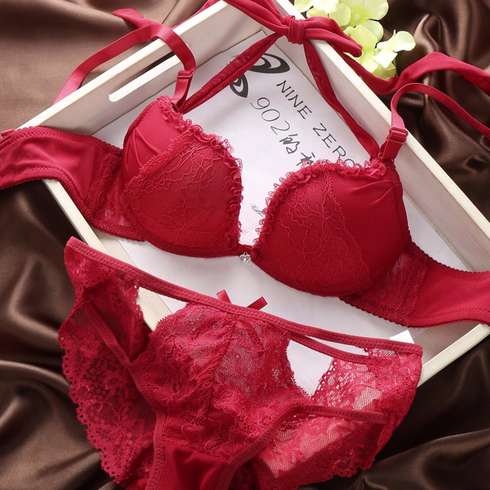 2017 Japanese Sexy Lace Underwear Bra Set Comfortable Push -4433