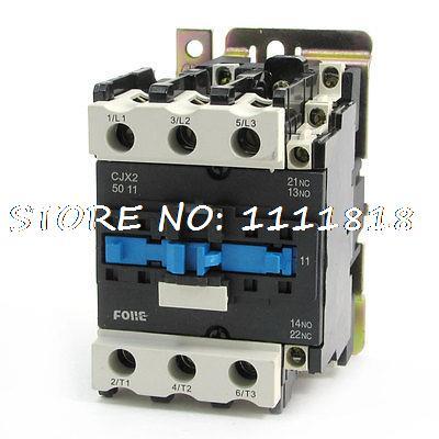 цена на 380V 50Hz/60Hz Coil Motor Control 3P 1NO 1NC AC Contactor CJX2-5011