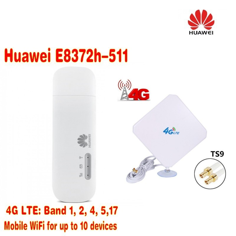 Lot of 20pcs Huawei E8372h-511 LTE USB Wingle plus 35dBi 4G external indoor LTE WIFI Antenna TS9 Connector ,DHL shipping lot of 2pcs huawei e8372h 517 lte wifi stick plus 2pcs antenna